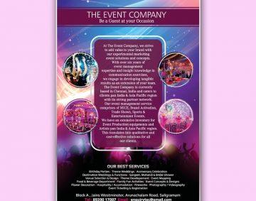 Brochure Design for Event Company