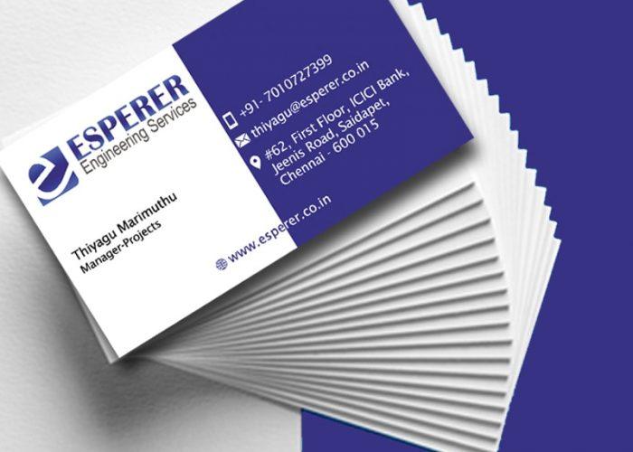 Business Card Design for Esperer