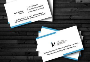 Business Card Design for The Ivar