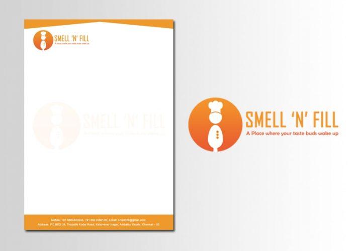 Logo and Letterhead Design Smell N Fill