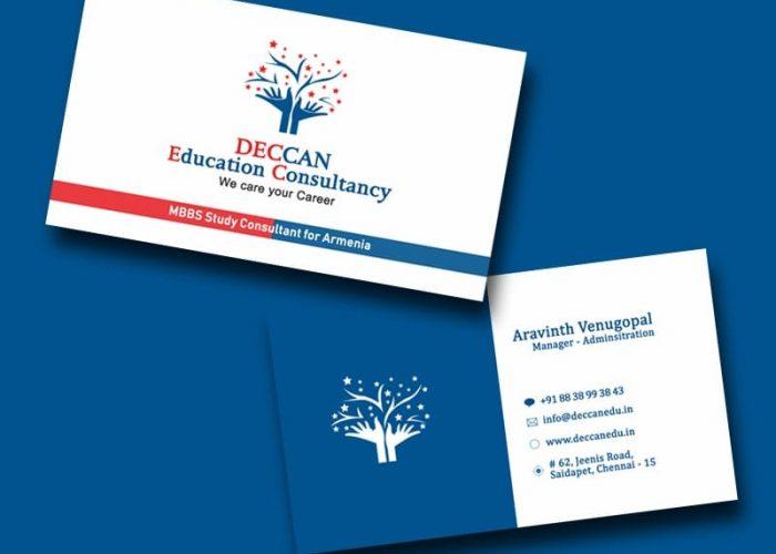 Visiting Card Design for Deccan