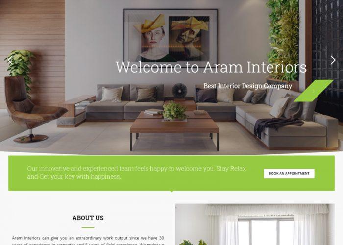 Web Design for Aram Interiors