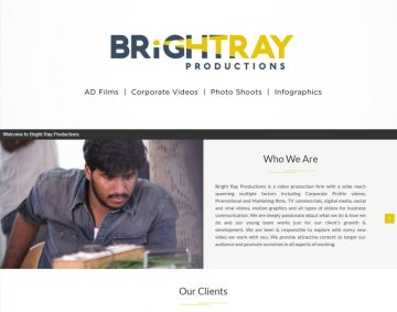 Web Design for Brightray Productions