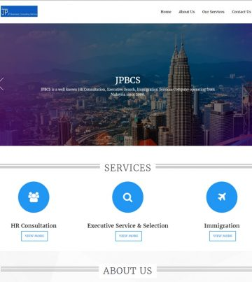 Web Design for HR Consulting Company