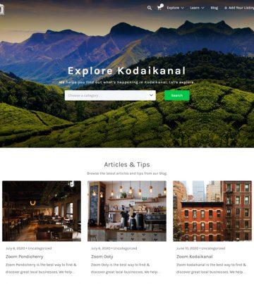 Web Design for Zoom Kodaikanal