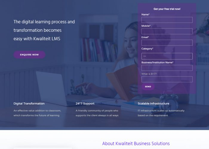 Website Design for Kwaliteit Business Solutions