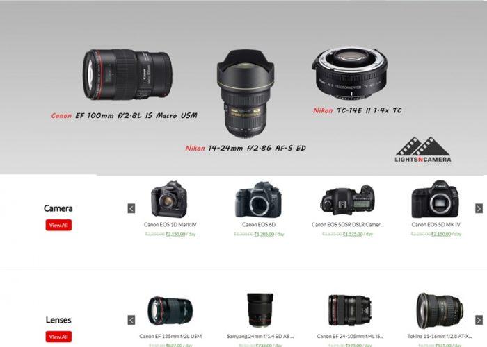 Website Design for LightNCamera