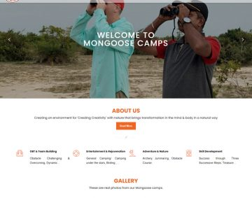 Website Design for Mongoose Camps