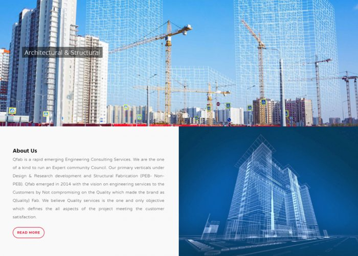 Website Design for Qfab Engineering and Design Solutions