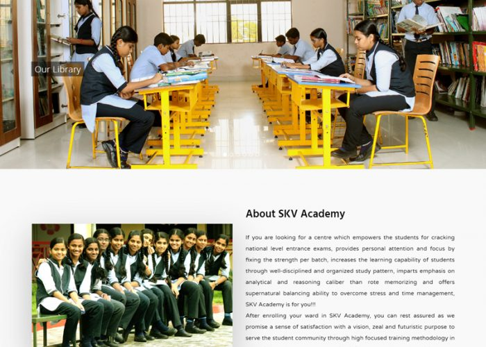 Website Design for SKV Academy