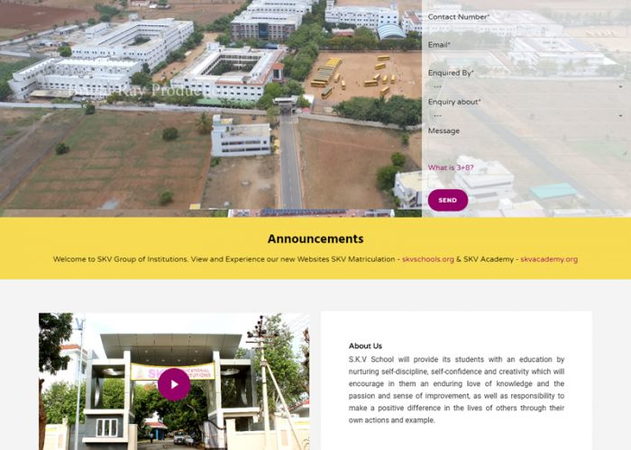 Website Design for SKV Educational Institutions